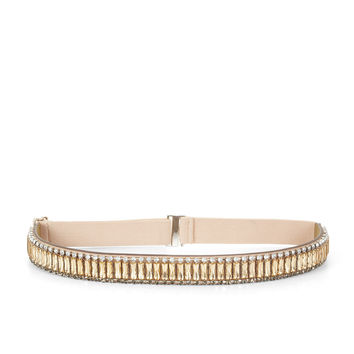 Grey/Gold BCBG Stone Waist Belt