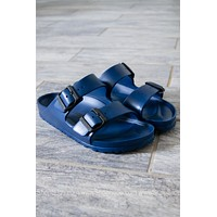 Arizona EVA Birkenstocks | Navy | Narrow