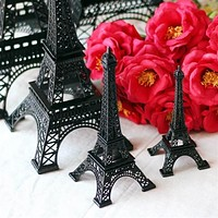 Metal Eiffel Tower Stand Paris France, Black