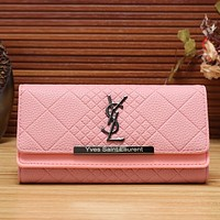 YSL Women Fashion Leather Shopping Wallet Purse