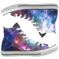 Galaxy  painted shoes, custom shoes by natalshoes