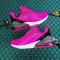 Nike Air Max 270 Rose Red Black Diamond Running Shoes