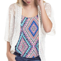 Romantic Boho Lace Dolman Cardigan