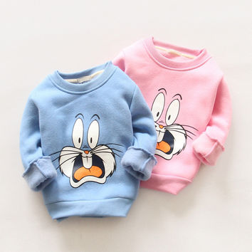 IVE New 2016 Kids Hoodies Boys Thick Sweater Girls Cute Tops Children Casual Clothes IU422