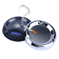 Mni 0.01g x 500g Digital Scale Unique Ash Tray Design Scale Black