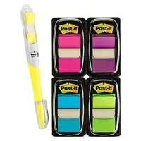 Post-it® Flags Value Pack, Assorted Colors, 200 Flags & Free Highlighter w/50 Flags