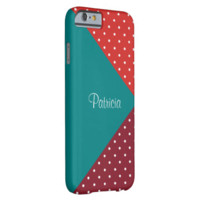 Monogram Blue, Red. Tomato Polka Dots, Color Block iPhone 6 Case