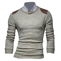 Jeansian Men's Slim Fit Long Sleeves Casual Shirts Pullover Sweater Tops 8895