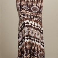 Brown Tie Dye Maxi Skirt *SIZE SMALL ONLY**