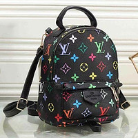 LV Louis Vuitton Classic Woman Men Leather Travel Bookbag Shoulder Bag Mini Backpack