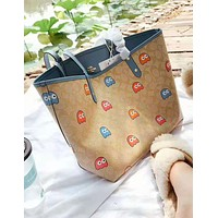 Coach hot seller of women's two-sided patchwork printed shoulder bag