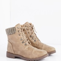 Taupe Sweater Trim Hiking Boot | Hiking Boots | rue21