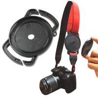 Camera Lens Cap Buckle C1 for 52mm 58mm 67mm Camera lens Cap Holder Cover For Canon Nikon Sony