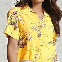 Boxy Tropical Print Shirt