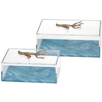 Lauderdale Coral Clear Acrylic Decorative Boxes