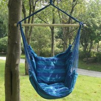 Prime Garden Seaside Stripe Soft Comfort Hanging Hammock Chair