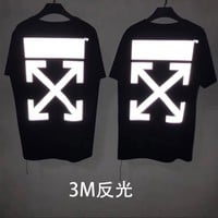 HCXX 19July 446 off-white Cotton round neck t-shirts 3M Reflective for men and women