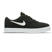 Nike SB Check Canvas (GS) Black/White Grade School Skateboarding Shoe 905373 003