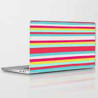 GIRLY SURF STRIPES Laptop & iPad Skin by Nika