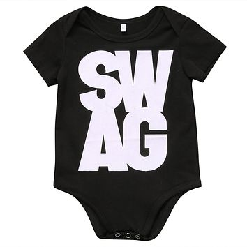 Unisex born Kids Baby Boys Girls Romper Short Sleeve Letter Printed Jumpsuit Clothes Outfits Sunsuit