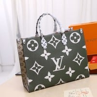 Kuyou Lv Louis Vuitton Fashion Women Men Gb2965 M44571 Onthego Handbag 41.0 X 34.0 X 19.0 Cm