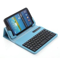 "TPCROMEER Universal 7"" 7.0 7 Inch Tablet Folding Leather Case Cover with Removable Detachable Wireless Bluetooth Keyboard for Samsung Galaxy Tab 2 / Tab 3 / Tab 4 7 Inch, Google Nexus 7.0 / 7 FHD 2nd Generation, Kindle Fire 7"" / HD 7"" / HDX 7"", iPad Mini a"