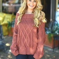 Rainy Day Romance Sweater in Mauve | Monday Dress Boutique
