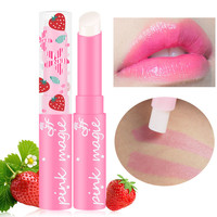 maquiagem Cute Sweet Strawberry Lip Balm Magic Temperature Changing Color Moisturizer Baby Lips Balm Makeup