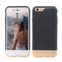 iPhone 6s Plus(5.5inch) Case, MOOST Colorful Slider Style Hard Protective Case Cover for iPhone 6 Plus / iPhone 6s Plus (5.5inch) (Black / Champagne Gold)