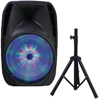 """Supersonic 15"""" Portable Bluetooth Dj Speaker With Stand"""
