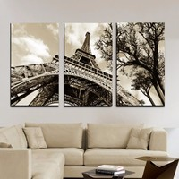 Art Modern Framework Picture Canvas Painting Paris 3 Panel City Eiffel Tower Wall Modular Pictures For Living Room Decoration