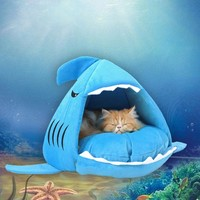Shark Shaped Cat Bed
