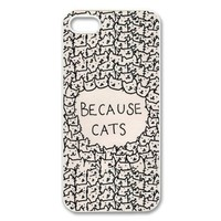 EVERMARKET(TM) iPhone 6 Plus (5.5) case-Because Cats Animal Cat Cartoon Retro Vintage Funny Patterned Hard Back Case Cover Skin For iphone 6 plus (5.5)