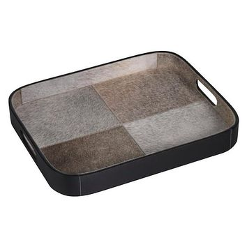 Aman Cowhide Tray