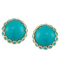Carolee Rio Radiance Turquoise Button Earrings