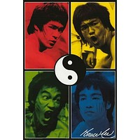 Bruce Lee Color Portraits Poster 24x36