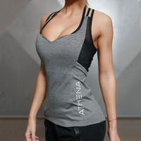 2018 Sexy Women Harness Tank Tops Sporting Female Quick Dry Skinny Vest Singlet For Exercise Women's Workout T-Shirts Sportwears