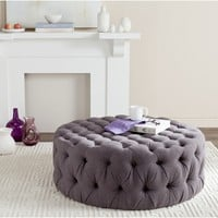 Safavieh Charlene Grey Ottoman | Overstock.com Shopping - The Best Deals on Ottomans