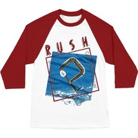Rush Men's  Retro Grace Under Pressure Raglan Baseball Jersey Red
