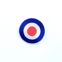 Vespa Mod Target Motorcycle Applique Iron on Patch
