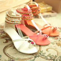Fashion Summer Comfortable Candy Color Sandals for Women