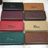 Dior Women Leather Buckle Wallet Purse Crossbody