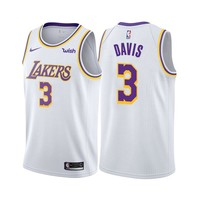 Men's Los Angeles Lakers Anthony Davis Nike White 2019/20 Swingman Jersey – Association Edition - Best Deal Online