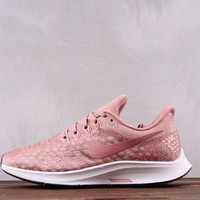 DCCK N257 Nike Air Zoom Pegasus 35 Flyknit Running Shoes Pink