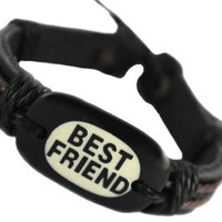 best friend bracelet mens black leather bracelet leather wrap bracelet boho bracelet bracelet for men