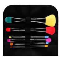 MSQ 6Pcs/set Beauty Cosmetics Wood Handle Makeup Brush Concealer Eyeshadow Colorful Double Ended Brush Set