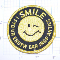 Smile If You're Not Wearing Panties Sew-On Vintage Embroidered Clothing Patch Naughty Risque Hidden Message Pickup Line Funny Icebreaker e7