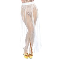 Goddess Multi Slit Sheer Skirt