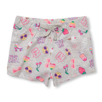 Toddler Girls Matchables Emoji Print Shorts | The Children's Place