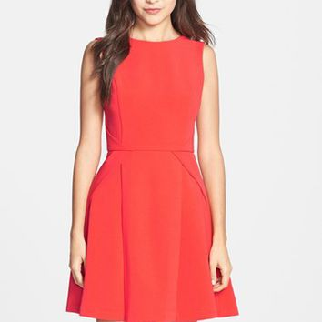 Women's Adelyn Rae Crepe Fit & Flare Dress,